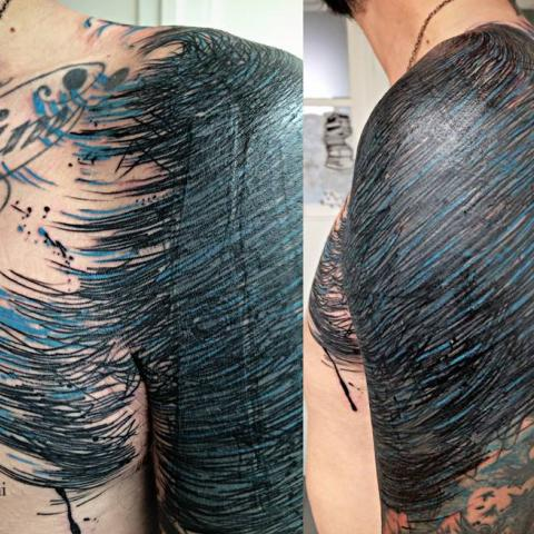 Ink in skin - scratchy - or how to o a cover up