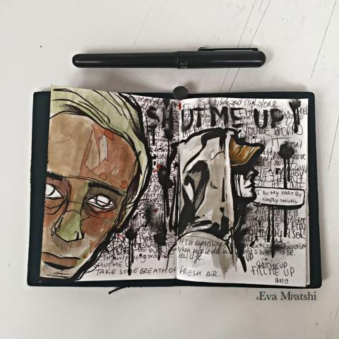 pen on paper⁣