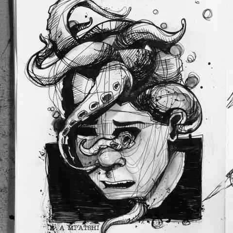 <p>pen on paper⁠ - Migraine -⁠ .⁠ .⁠ # schets ⁠ ⁠</p>