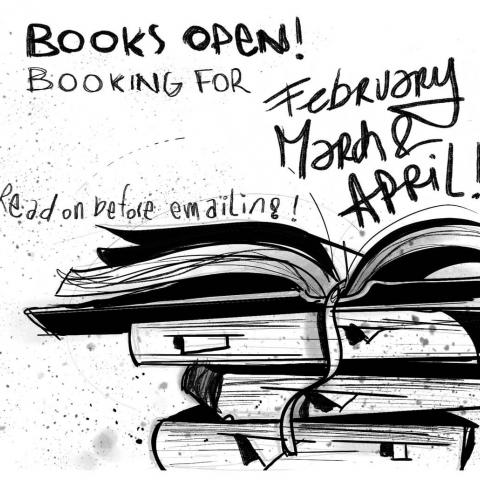 Just a reminder that my books are open ;)⁠ ⁠ This time for February, March and April, in Ghent.⁠ ⁠ Now, before you get all too excited and start mailing or calling me,⁠ this is the best (and only) way to get an appointment with, and some ink from me:⁠ Send an email before the 8th of December to eva@tart.gent⁠ ⁠ Explain your idea clear and briefly:⁠ - Size & placement⁠ (include a picture of yourself where the area you want to see tattooed is shown and I can see if you already have any tattoos.)⁠ - Theme, inspiration⁠ - Which of my works you are inspired by⁠ - is there a maximum budget?⁠ - Your age and phone number !⁠ You can use Dutch, English or French. I don't speak Google translate, sorry…;)⁠ In't Gents mag uuk !⁠ ⁠ This is not about who's responding the fastest!⁠ Don't panic or resend if you don't get an answer right away, I will answer every mail!  But it will take time.⁠ ⁠ Thank you for your patience, waiting, understanding and being awesome! It's very much appreciated!⁠ ⁠ Sorry dat ik deze boodschap steeds in het Engels doe, als je graag wat meer info wil in het Nederlands, vraag gerust!⁠ ⁠ Désolé pour l'anglais, si tu veux plus d'information en Français, dis moi!⁠