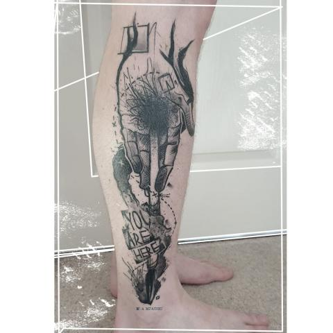 Thank you Mark for sending me this photo of your healed leg, I am super happy with this!⁠ The tattoo was done about 2 months ago at Ink Minx tattoo in Montrose. ⁠ .⁠